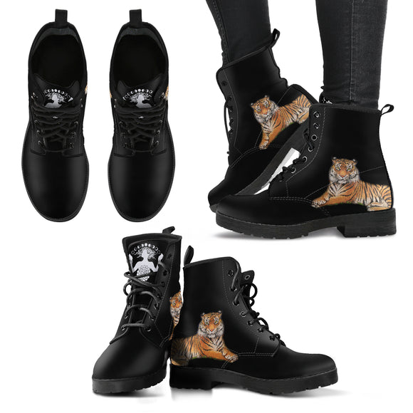 The Protector Tiger  - Women's Leather Boots