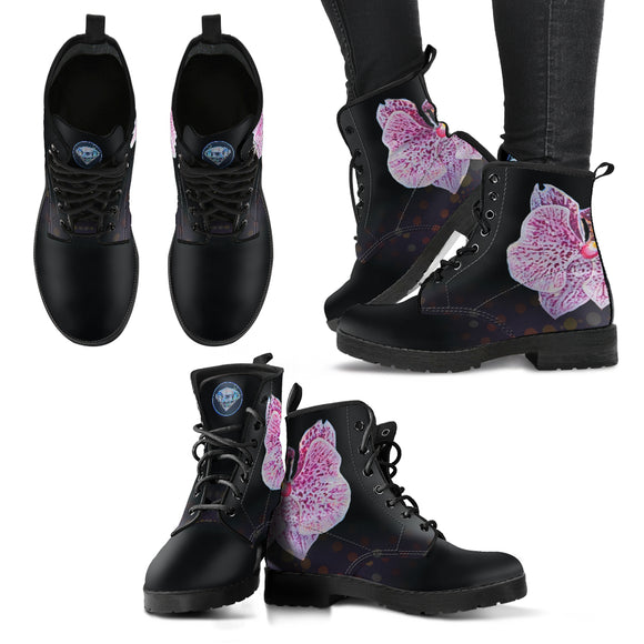 Flower Diamond Women's Leather Boots