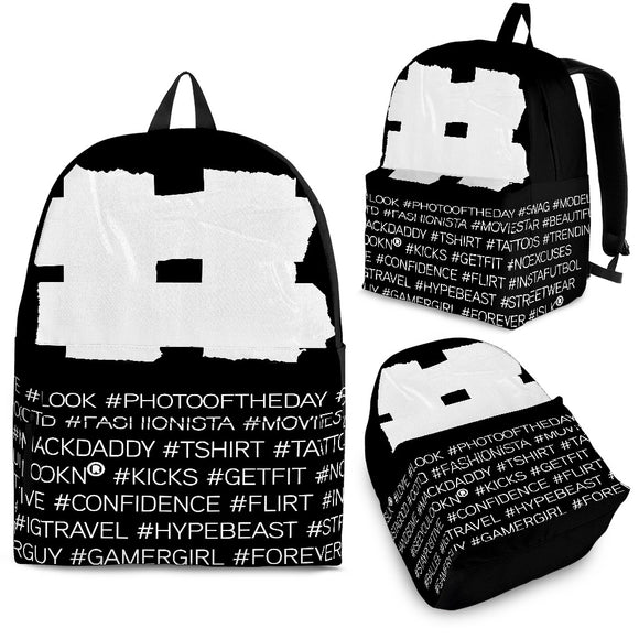 Hashtag Backpack in Black