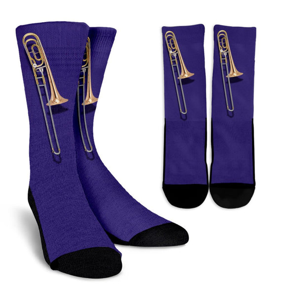 Trombone Socks Purple