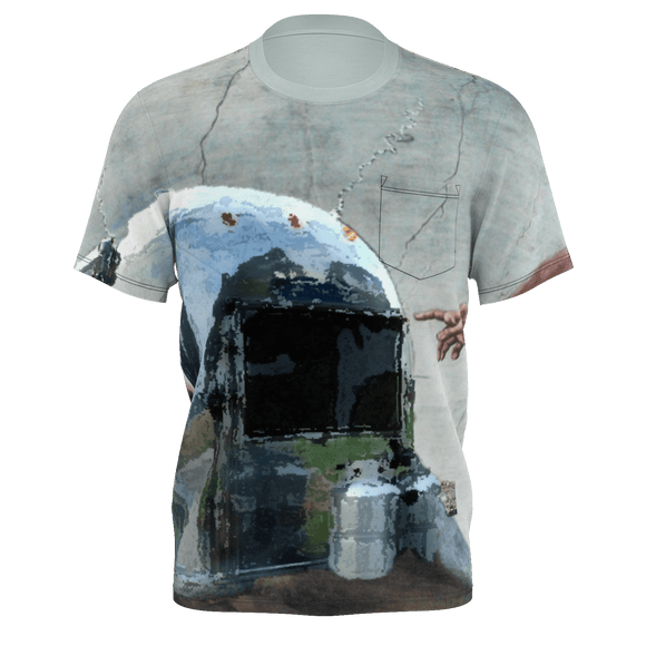 God Created Airstream Pocket Tee