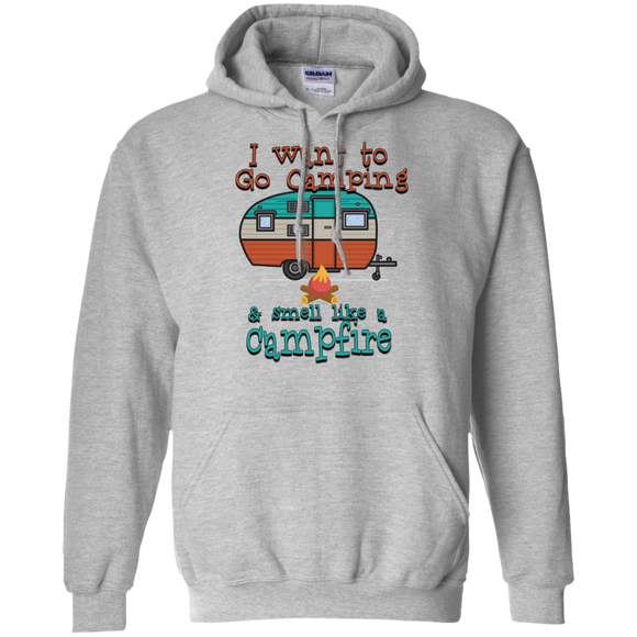 Smell Like A Campfire Pullover Hoodie 8 oz