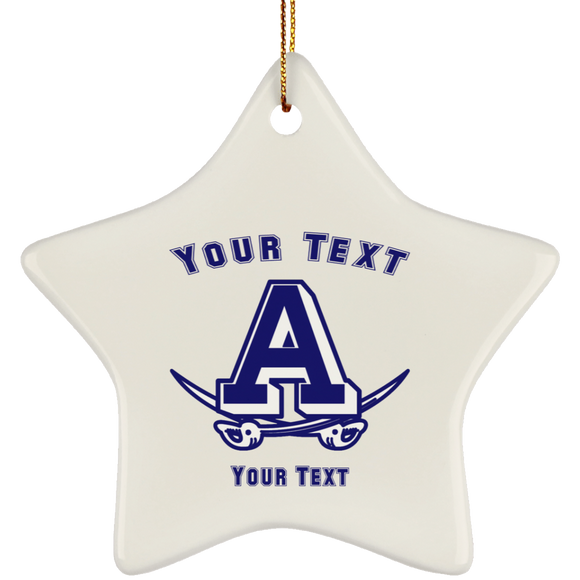 Atlee Swords Personalized SUBORNS Ceramic Star Ornament