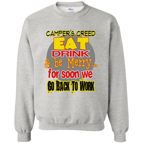 Camper's Creed Crewneck Pullover Sweatshirt  8 oz