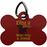 Better with a Friend Dog Bone Pet Tag