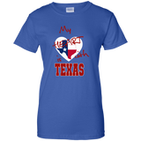 My Heart is with Texas G200L Gildan Ladies' 100% Cotton T-Shirt