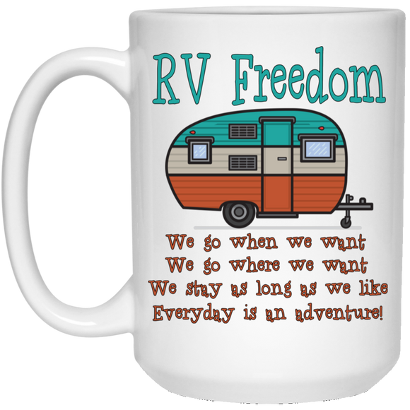 RV Freedom 21504 15 oz. White Mug