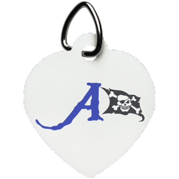 raiders a flag UN5770 Heart Pet Tag