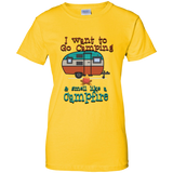 Smell Like A Campfire Ladies Custom 100% Cotton T-Shirt