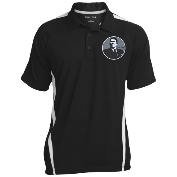 Reagan Gray Circle ST685 Sport-Tek Men's Colorblock 3-Button Polo