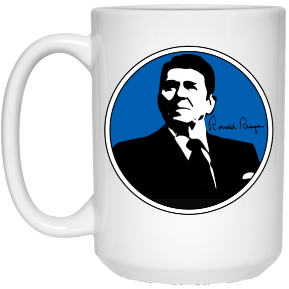 Reagan Blue 21504 15 oz. White Mug