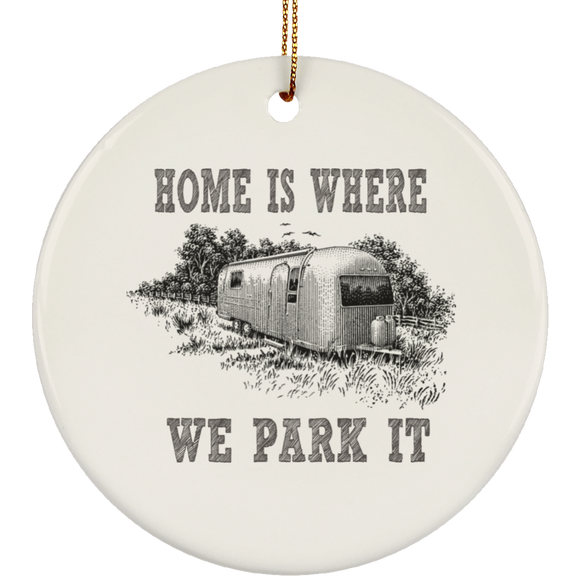PARK IT 4 SUBORNC Ceramic Circle Ornament