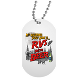 RVs with Beer 2500x3000 UN5588 White Dog Tag