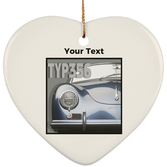 Typ 356 blue  personalized SUBORNH Ceramic Heart Ornament