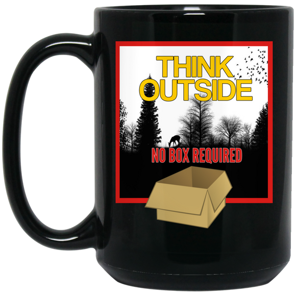 Think Outside Black 15 oz. Mug
