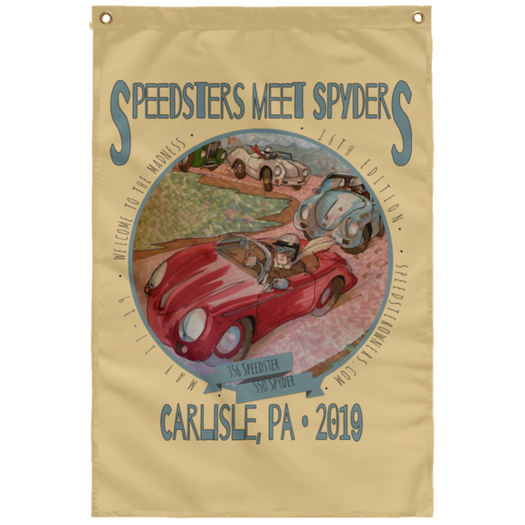 Speedsters Meet Spyders Personalize SUBWF Sublimated Wall Flag