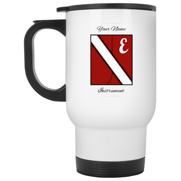Red Rover Uni Personalized XP8400W White Travel Mug