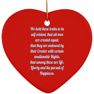 Declaration text SUBORNH Ceramic Heart Ornament