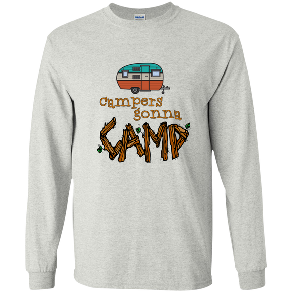 Campers Gonna Camp LS Ultra Cotton Tshirt