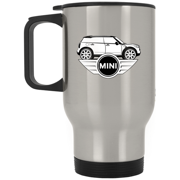 mini sil logo XP8400S Silver Stainless Travel Mug