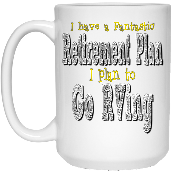 Retirement plan 21504 15 oz. White Mug