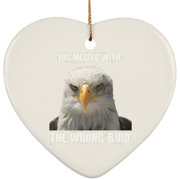 bird SUBORNH Ceramic Heart Ornament