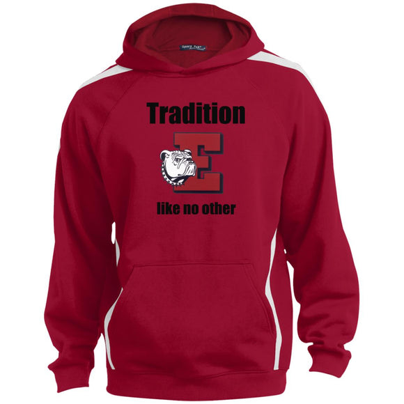 Easton Red Rovers Tradition Sport-Tek Sleeve Stripe Sweatshirt with Jersey Lined Hood