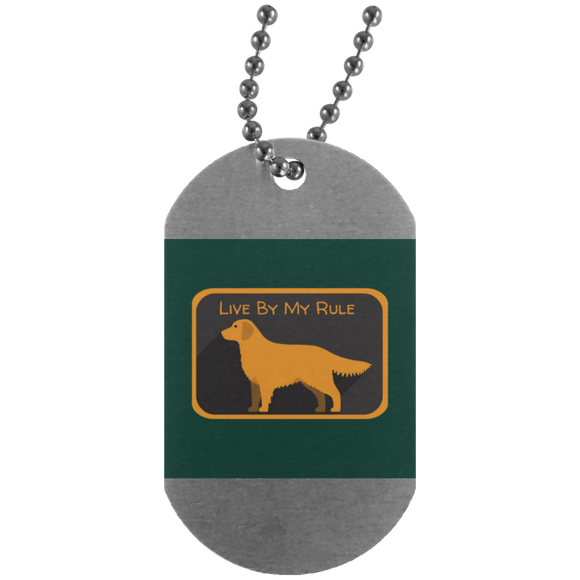 Golden my rule square green UN4004 Silver Dog Tag