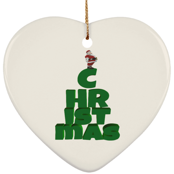 Christmas SUBORNH Ceramic Heart Ornament