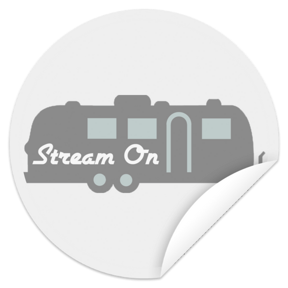 Stream on silhouette logo STCI Circle Sticker