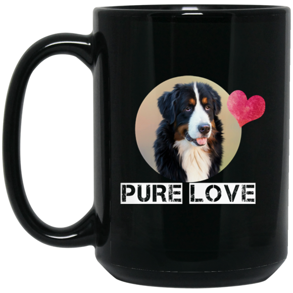 pure love BM15OZ 15 oz. Black Mug