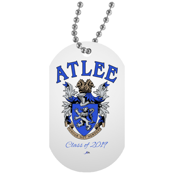 Atlee Crest Personalized UN5588 White Dog Tag