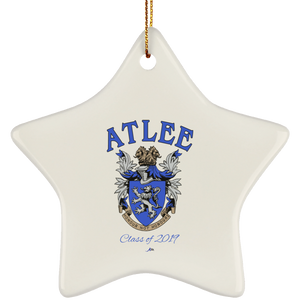 Atlee Crest Personalized SUBORNS Ceramic Star Ornament