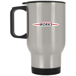 jcw logo XP8400S Silver Stainless Travel Mug