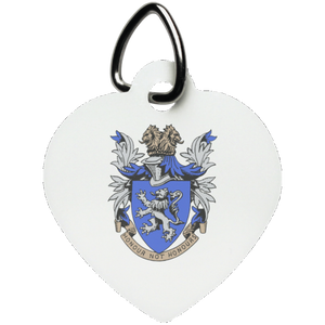 Atlee coat of arms UN5770 Heart Pet Tag