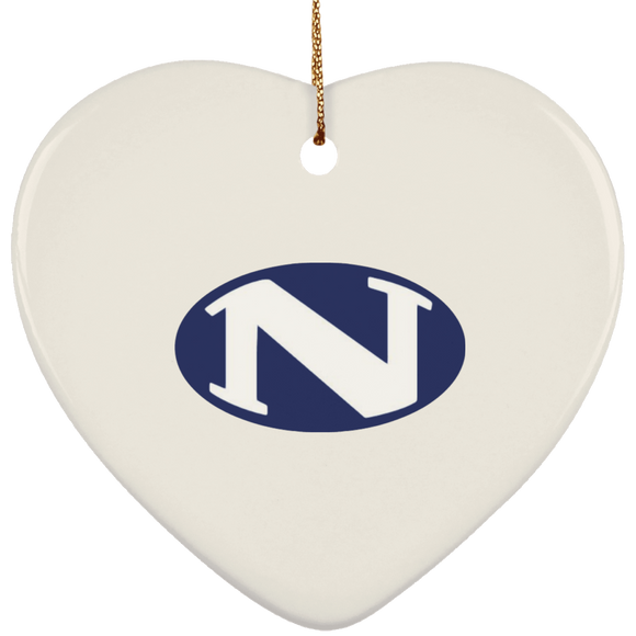 N logo SUBORNH Ceramic Heart Ornament