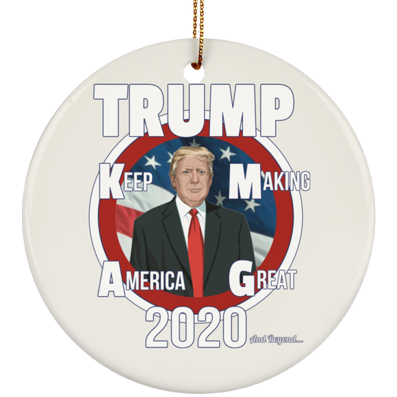 TRUMP KMAG 3 SUBORNC Ceramic Circle Ornament