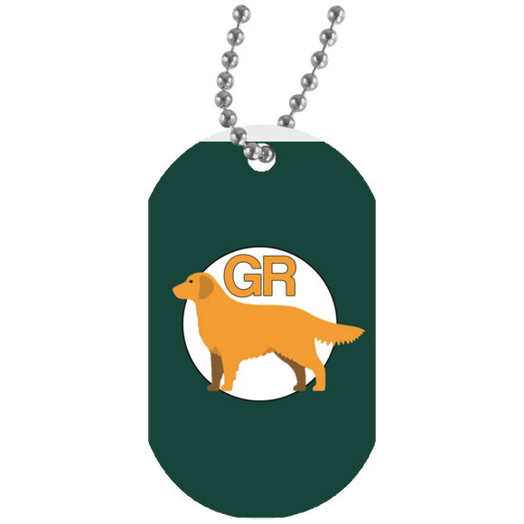 Golden GR Green UN5588 White Dog Tag