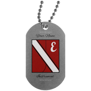 Red Rover Uni Personalized UN4004 Silver Dog Tag
