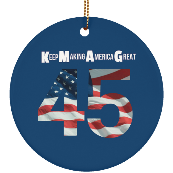TRUMP 45 5 SUBORNC Ceramic Circle Ornament