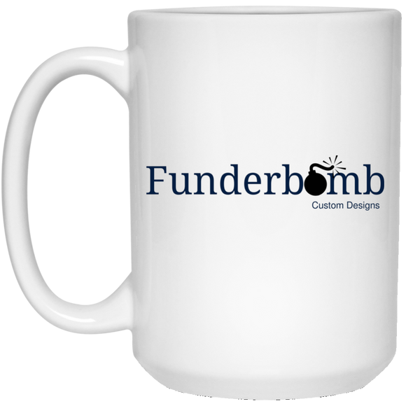 Funderbomb 21504 15 oz. White Mug