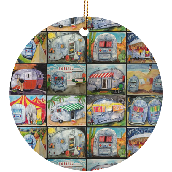 multi airstream large SUBORNC Ceramic Circle Ornament