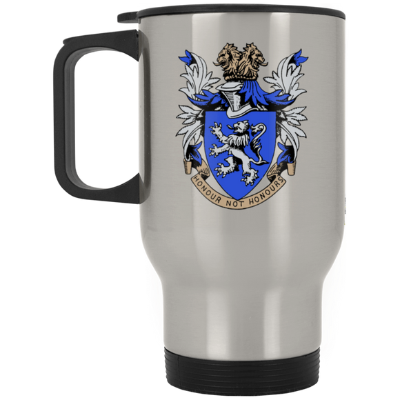 Atlee coat of arms XP8400S Silver Stainless Travel Mug