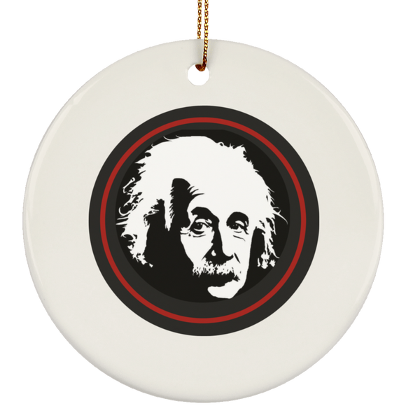 Einstein silhouette SUBORNC Ceramic Circle Ornament