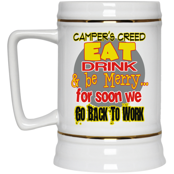 Camper's Creed Beer Stein - 22 oz