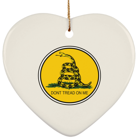 GADSDEN CIRCLE COLOR SUBORNH Ceramic Heart Ornament