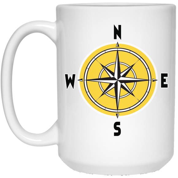 Compass rosette 21504 15 oz. White Mug