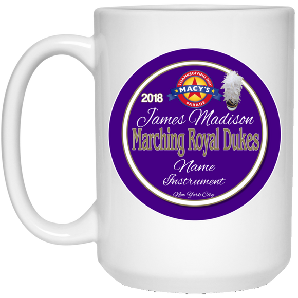 Macy's Parade 2018 Personalized 21504 15 oz. White Mug