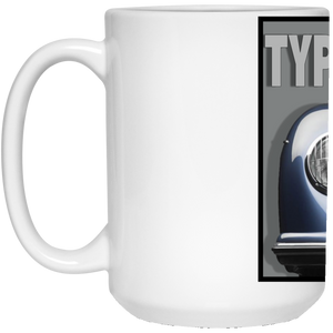 Typ 356 blue 21504 15 oz. White Mug