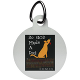 So God Made A Dog BLK UN5773 Circle Pet Tag